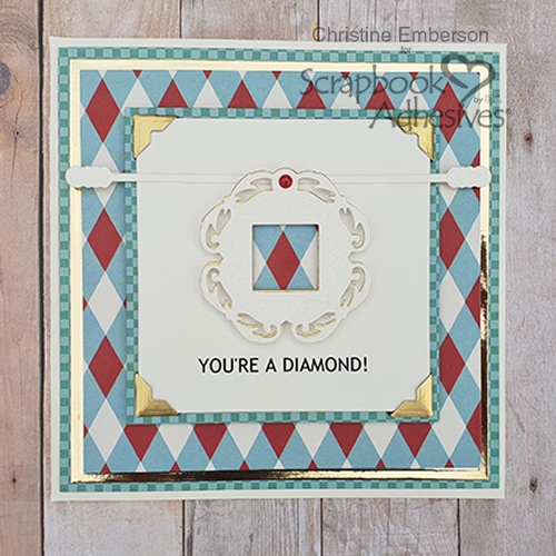 You're a Diamond with Creative Photo Corners by Christine Emberson for Scrapbook Adhesives by 3L