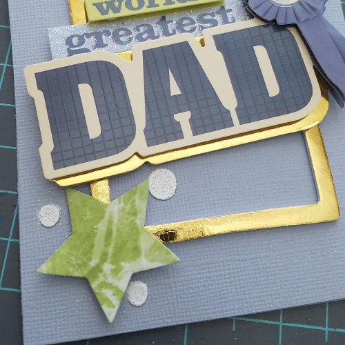 Gold Foil Father's Day Card Tutorial by Christine Meyer for Scrapbook Adhesives by 3L