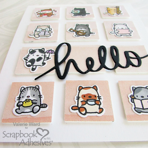 One Paper, Two Cards: Happy and Hello by Valerie Ward for Scrapbook Adhesives by 3L