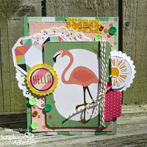 Happy Layered Hello Card by Shannon Morgan for Scrapbook Adhesives by 3L