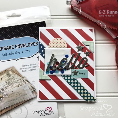 Easy Shaker Pocket for a Card by Teri Anderson for Scrapbook Adhesives by 3L