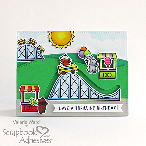 Thrilling Birthday Card by Valerie Ward for Scrapbook Adhesives by 3L