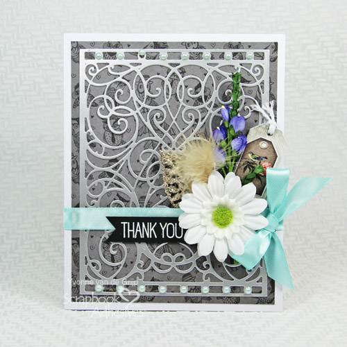 Elegant Thank You with Adhesive Sheets by Yvonne van de Grijp for Scrapbook Adhesive by 3L