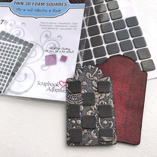 ART Mini Canvas with 3D Foam Squares by Judy Hayes for Scrapbook Adhesives by 3L