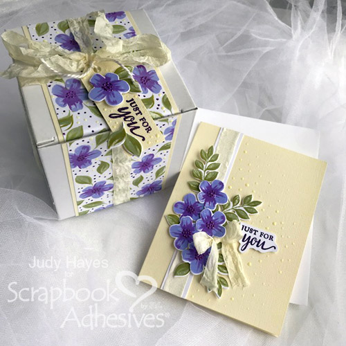 Just for You Gift Box and Card Ensemble by Judy Hayes for Scrapbook Adhesives by 3L