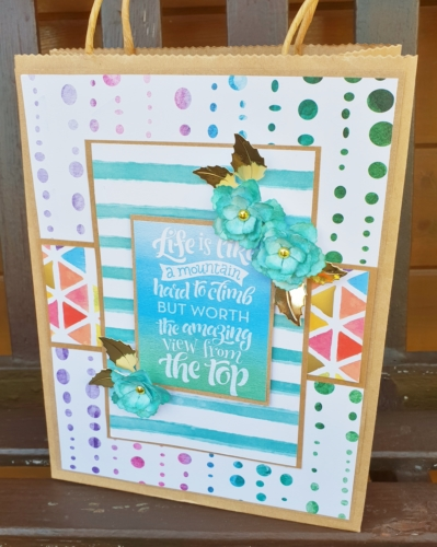 Big Bold Bright Gift Bag Tutorial by Christine Emberson for Scrapbook Adhesives by 3L