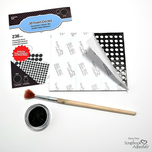 Positive and Negative Black 3D Foam Circle Card Set by Dana Tatar for Scrapbook Adhesives by 3L