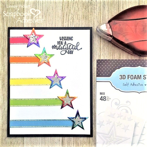 Make Your Cards Sparkle and Shine with 3D Foam Stars by Linsey Rickett for Scrapbook Adhesives by 3L
