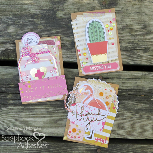 Layered Cheer Up Card Ideas by Shannon Morgan for Scrapbook Adhesives by 3L