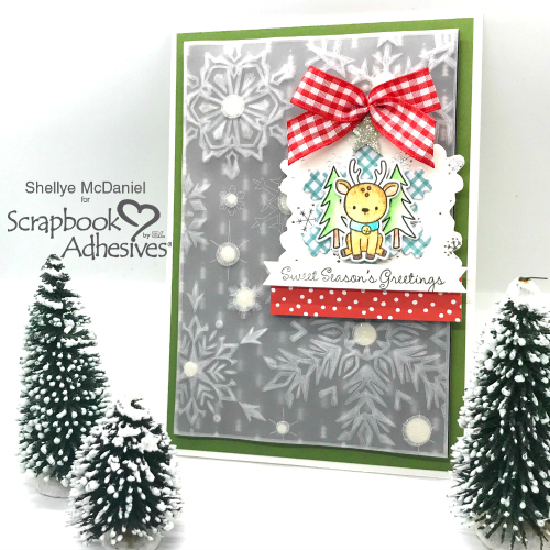 Forecast: Snow Flurries & A Reindeer by Shellye McDaniel for Scrapbook Adhesives by 3L