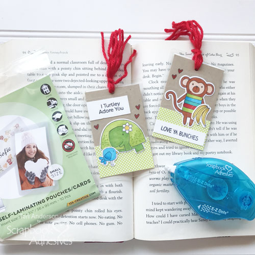 DIY Tag Bookmarks by Teri Anderson for Scrapbook Adhesives by 3L