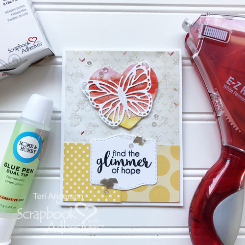 DIY Glittered Patterned Paper by Teri Anderson for Scrapbook Adhesives by 3L
