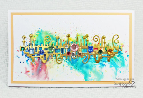 Abstract Jewel Card by Yvonne van de Grijp for Scrapbook Adhesives by 3L