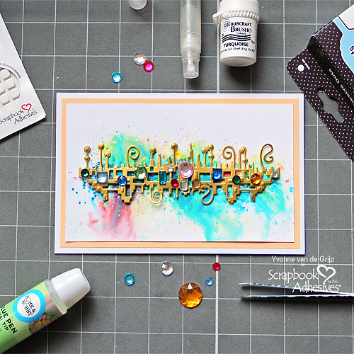 Abstract Jewel Card and Refilling the E-Z Runner Grand by Yvonne van de Grijp for Scrapbook Adhesives by 3L