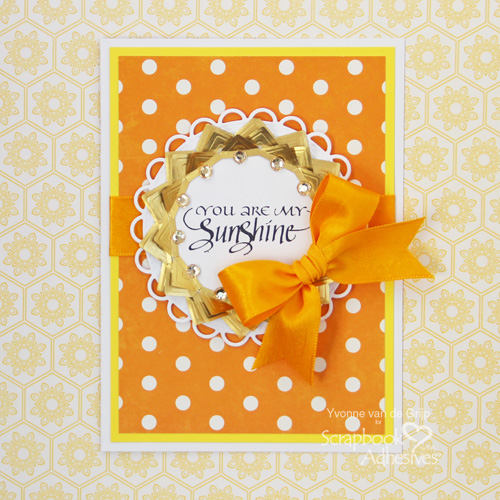 Sunshine Card with Creative Photo Corners by Yvonne van de Grijp for Scrapbook Adhesives by 3L