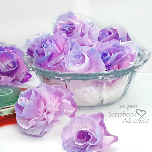 How to Create DIY Crepe Paper Flowers by Terri Burson for Scrapbook Adhesives by 3L