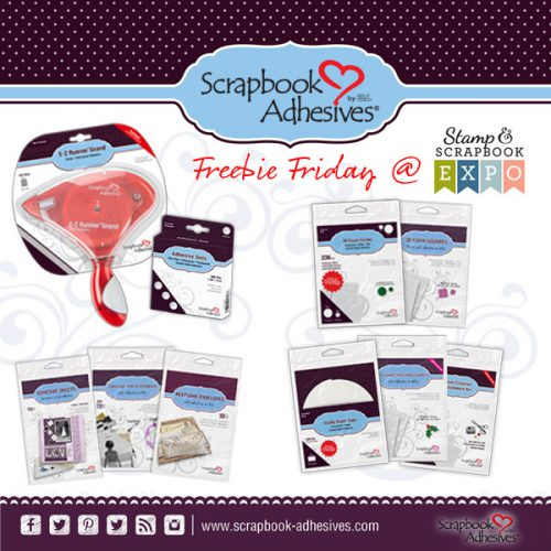 Freebie Friday with Scrapbook Expo and Scrapbook Adhesives by 3L