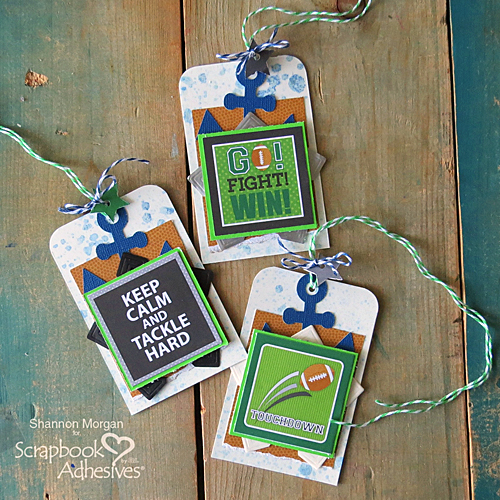 Good Luck Tags with Creative Photo Corners by Shannon Morgan for Scrapbook Adhesives by 3L