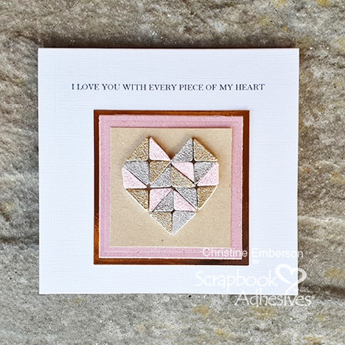 Mosaic Heart with 3D Foam Squares by Christine Emberson for Scrapbook Adhesives by 3L