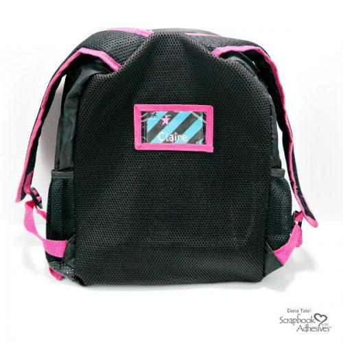 DIY Self-Laminating Backpack Name Tag