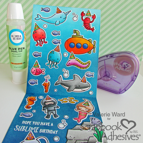 Sublime Birthday Card by Valerie Ward for Scrapbook Adhesives by 3L