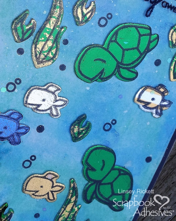 Sea Life Card with 3D Foam Creative Sheets + Foil by Linsey RIckett for Scrapbook Adhesives by 3L