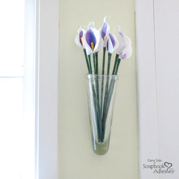 Paper Calla Lily Bouquet in Wall Vase