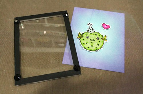 Puffer Fish Shaker Card using 3D Foam Frames by Tracy McLennon for Scrapbook Adhesives by 3L