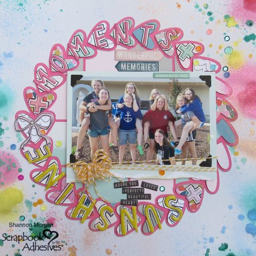 Sunshine and Moments Scrapbook Page with Adhesives by Shannon Morgan for Scrapbook Adhesives by 3L