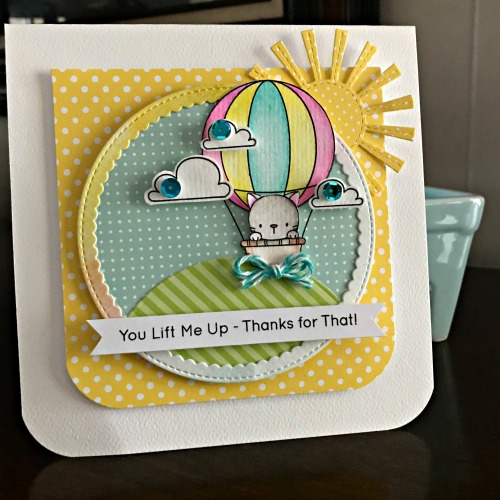 You Lift Me Up Dimensional Card by Shellye McDaniel for Scrapbook Adhesives by 3L