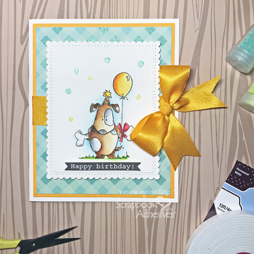 Cute Birthday Card with Adhesive Dots by Yvonne van de Grijp for Scrapbook Adhesives by 3L