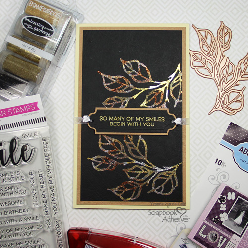 Metallic Glitter Card with Adhesive Sheets by Yvonne van de Grijp for Scrapbook Adhesives by 3L