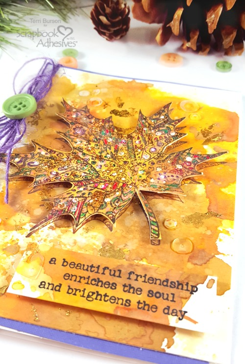 Mottled Foil Technique For Papercrafting by Terri Burson for Scrapbook Adhesives by 3L