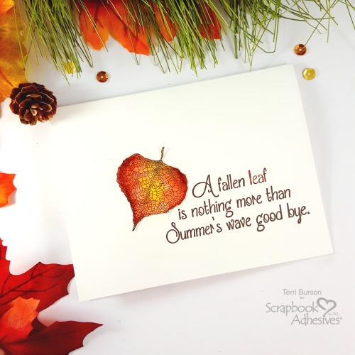 Fall Leaf Card With Foil Flakes by Terri Burson for Scrapbook Adhesives by 3L