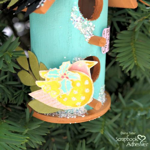 Holiday Cheer with Stampendous - Day 2 Holiday Bird House Ornament by Dana Tatar for Scrapbook Adhesives by 3L