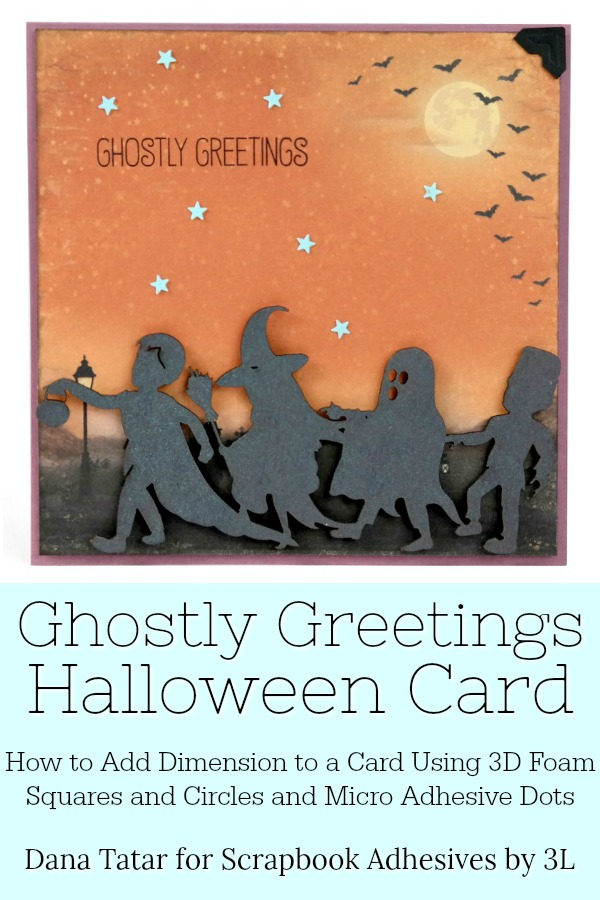 Ghostly Greetings Trick-or-Treat Dimensional Halloween Card
