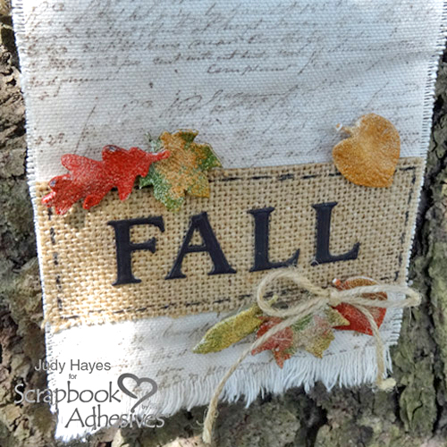 3D Foam Leaves FALL Banner by Judy Hayes for Scrapbook Adhesives by 3L