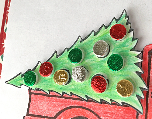 Holiday Card Creations with Stampendous - Day 1 Loads of Christmas Wishes Card by Margie Higuchi for Scrapbook Adhesives by 3L