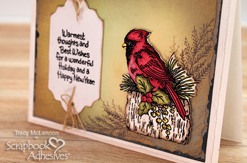 Card Making Merriment with Stampendous - Day 4 Warmest Thoughts by Tracy McLennon for Scrapbook Adhesives by 3L