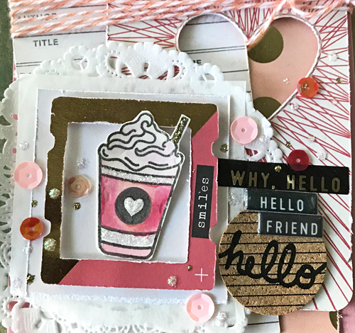 Hello Friend Layered Coffee Card on National Coffee Day Blog Hop by Shannon Morgan for Scrapbook Adhesives by 3L