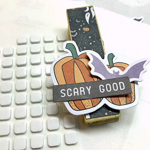 Halloween Glitter and Washi Tape Treat Bag by Shellye McDaniel for Scrapbook Adhesives by 3L