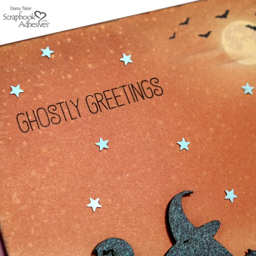 Stamped Halloween Card Sentiment with Micro Stars