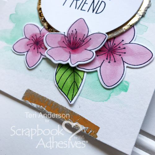 Distressed Foiled Accents by Teri Anderson for Scrapbook Adhesives by 3L