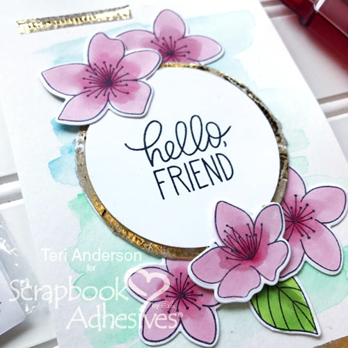 Distressed Foiled Accents Card by Teri Anderson for Scrapbook Adhesives by 3L