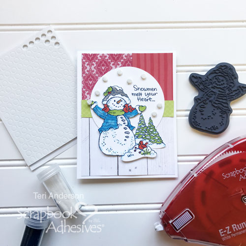 Joyful Inspiration from Stampendous - Day 3 Melt Your Heart Card by Teri Anderson for Scrapbook Adhesives by 3L