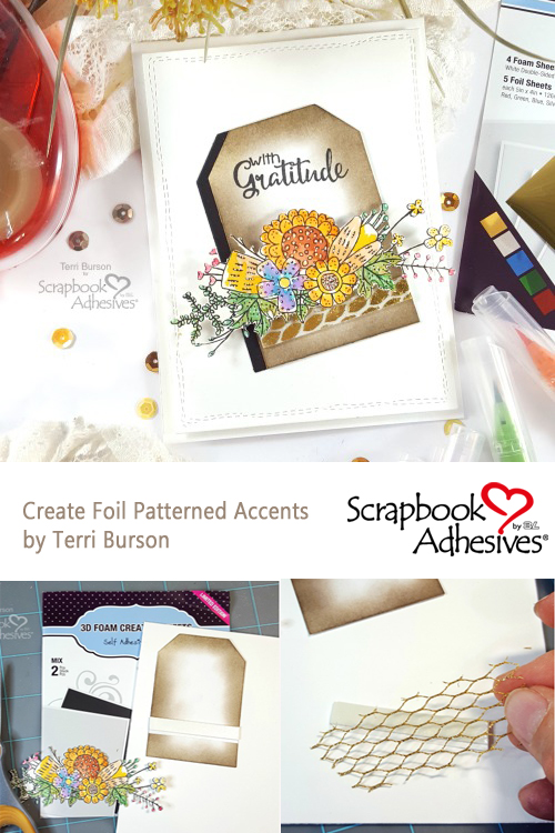 Create Foil Patterned Accents on a Card by Terri Burson for Scrapbook Adhesives by 3L