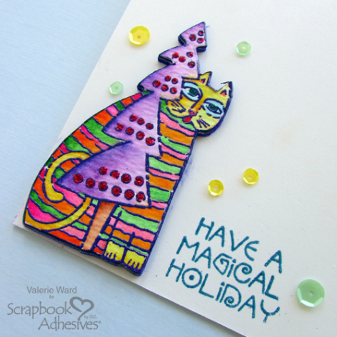 Holiday Fun with Stampendous - Day 5 CAS Magical Holiday Card by Valerie Ward for Scrapbook Adhesives by 3L