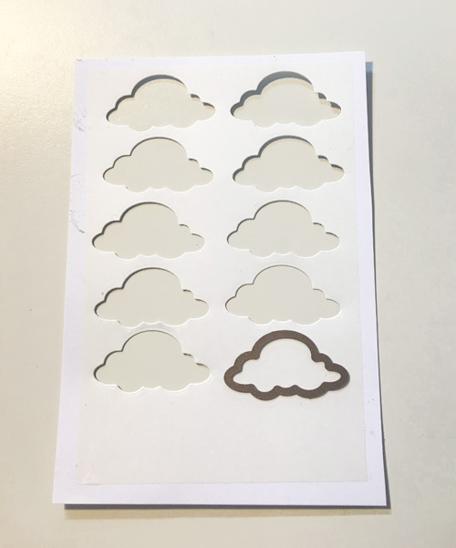 Up in the Clouds with Adhesive Sheets by Yvonne van de Grijp for Scrapbook Adhesives by 3L