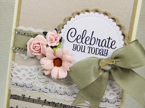 Elegant Lace Celebration Card by Yvonne van de Grijp for Scrapbook Adhesives by 3L