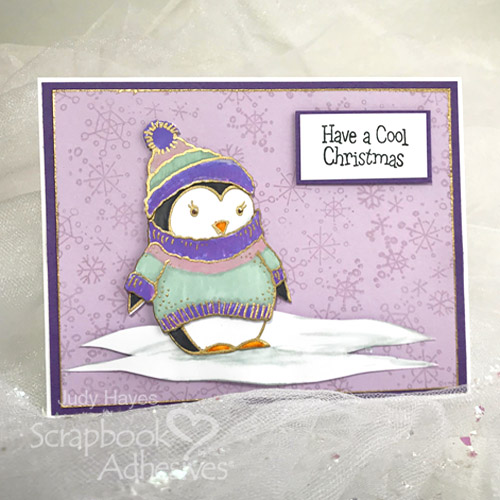 Card Making Merriment with Stampendous - Day 4 Cool Christmas Card by Judy Hayes for Scrapbook Adhesives by 3L